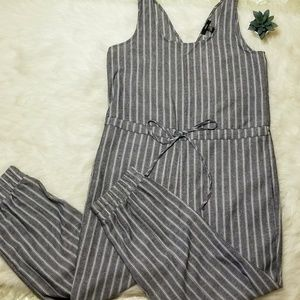 DREW by Anthropologie Striped Jumpsuit
